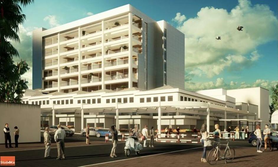 """שוק נתניה: החלה בניית מתחם """"nova"""" המשלב קולינריה ומגורי יוקרה"""