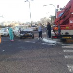 נתניה: שלושה נפגעים בתאונת דרכים