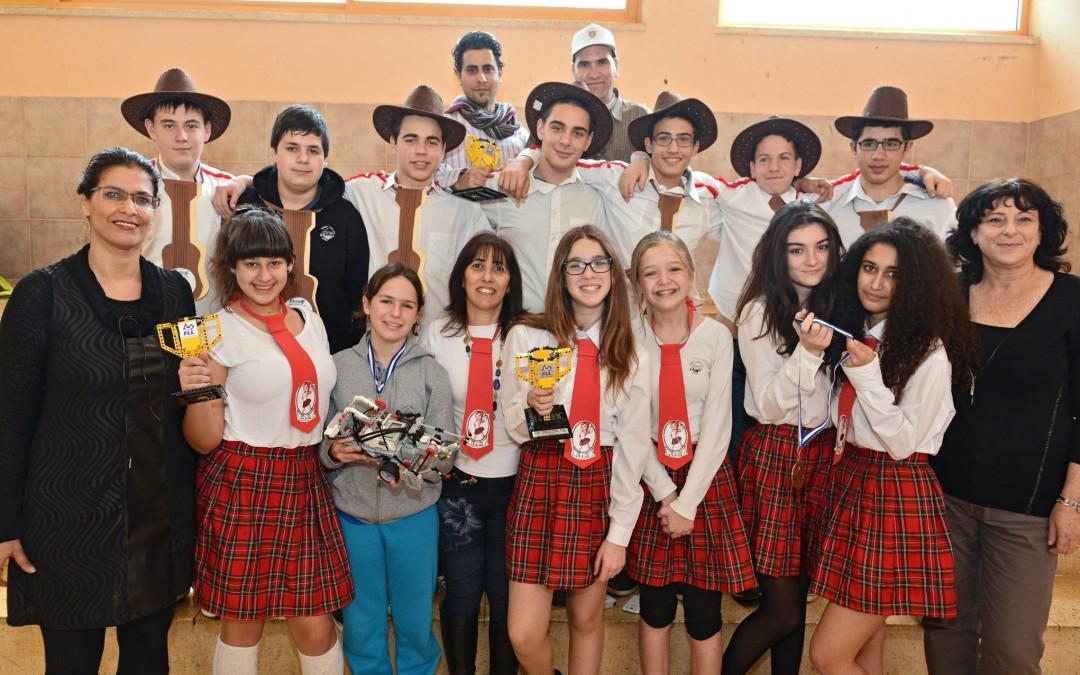 נתניה: שלושה בתי ספר – שלושה מקומות ראשונים בתחרויות ארציות לרובוטיקה