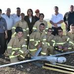 נתניה: תלמידי תיכון פיתחו מערכת ניהול שריפות מהאוויר