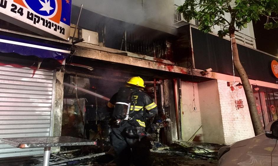 נתניה: חשד להצתת מכבסה במרכז נתניה