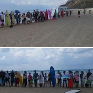 מחאת הגולשים ואנשי הספורט הימי. צילום חמי תמיר