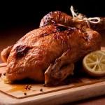 עוף  צלוי שלם בלימון