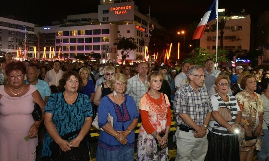 נתניה: עצרת הזדהות לזכרם של חללי הפיגוע בניס
