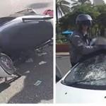 רוכב אופנוע נפצע בינוני מפגיעת רכב