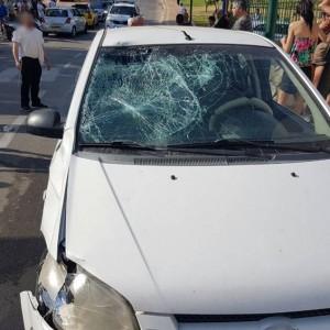 """הרכב ממנו נפגע הנער. צילום תיעוד מבצעי מד""""א"""