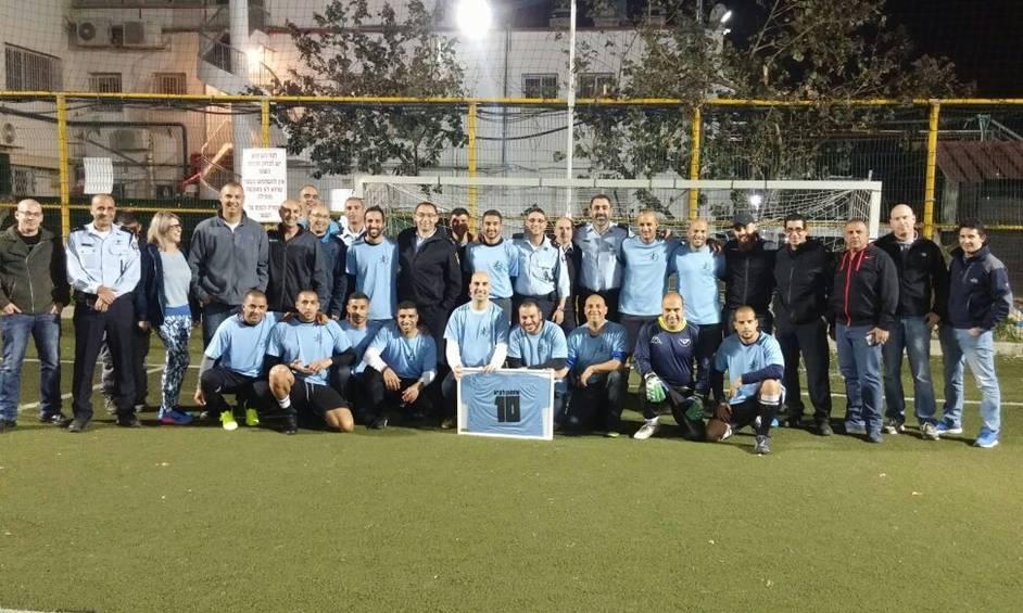במקום הראשון – נבחרת הכדורגל של המשטרה