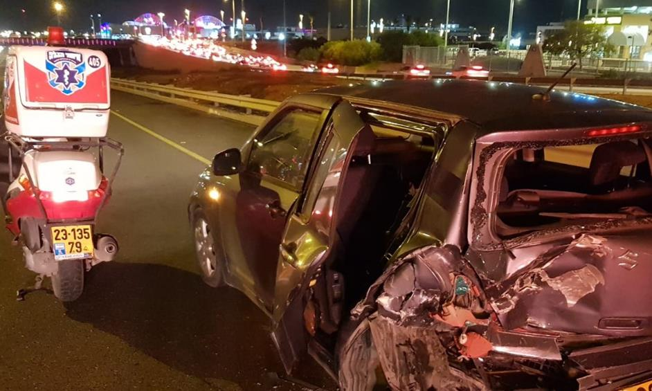 שבעה נפגעים בהם פעוט בתאונה