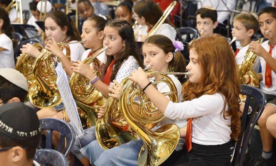 נתניה: מאות תלמידים במיזם בית ספר מנגן