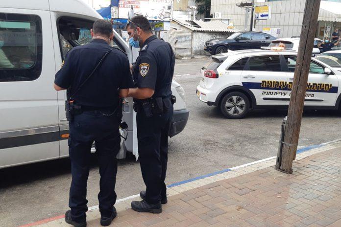 קורונה - אי עטיית מסכה - פקחי עיריית נתניה ומשטרת ישראל אוכפים ההוראות