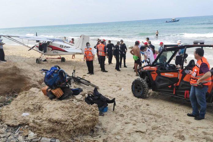 נחיתת חירום חוף פולג בנתניה