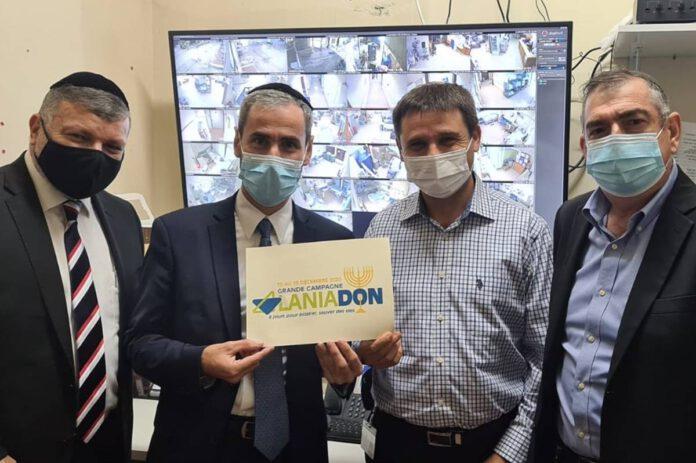 חבר הכנסת יוסי טייב בביקור - בית חולים לניאדו בנתניה