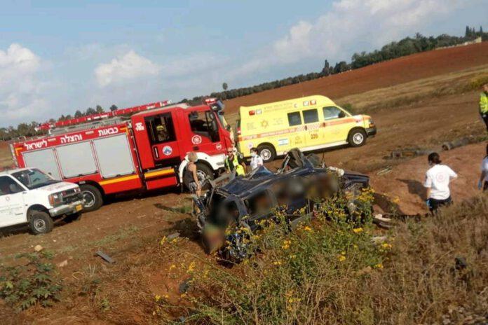 תאונת דרכים בין רכבת לרכב פרטי באזור חוות רונית
