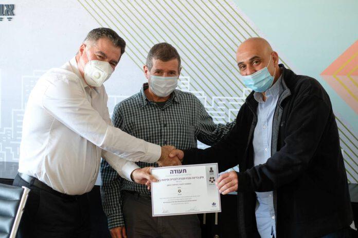 כוכב הבטיחות הראשון - חברת הבנייה בריגה בנתניה