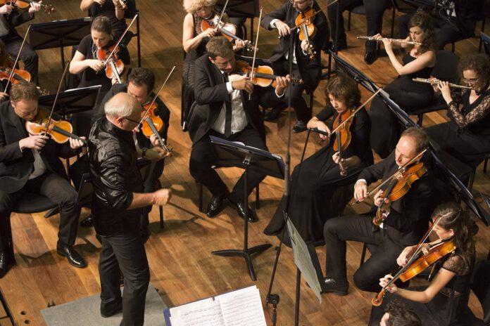 תזמורת נתניה הקאמרית קיבוצית 2020. צילום כפיר בולטין