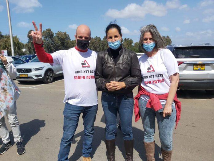 מחאה בדרישה להקמת חנת רכבת אחיטוב - עמק חפר