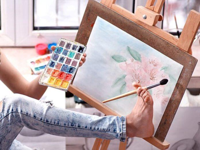 תראו אותי, תערוכה קבוצתית של מעון הנכים בנתניה, ציורי רגל, ציורי פה - היכל התרבות העירוני נתניה