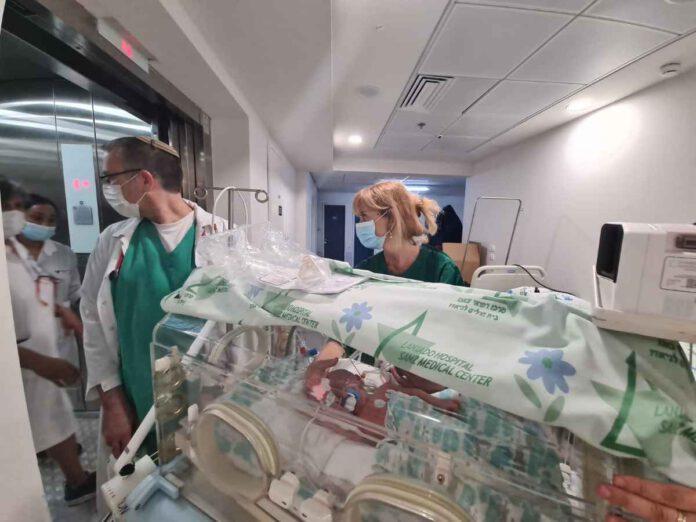 העברת פגים למתחם ממוגן בבית חולים לניאדו בנתניה