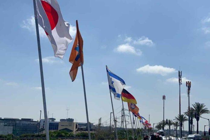 עיריית נתניה הציבה מעל גשרי העיר את דגלי המדינות שהונפו בהם דגלי ישראל. מדינות, שהביעו תמיכה וסולידריות במהלך מבצע 'שומר החומות'.